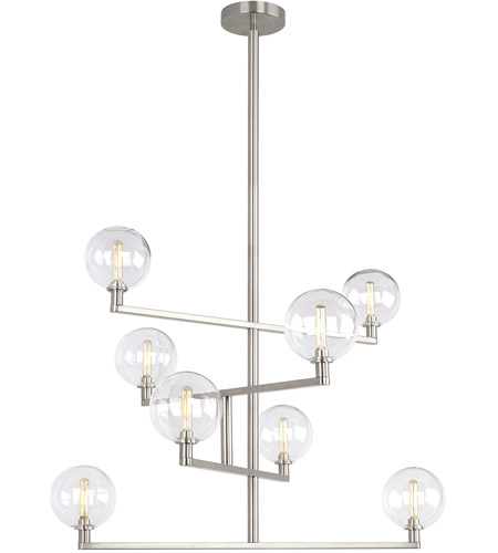 Tech lighting 700gmbcs led927 gambit led 32 inch satin nickel chandelier ceiling light photo