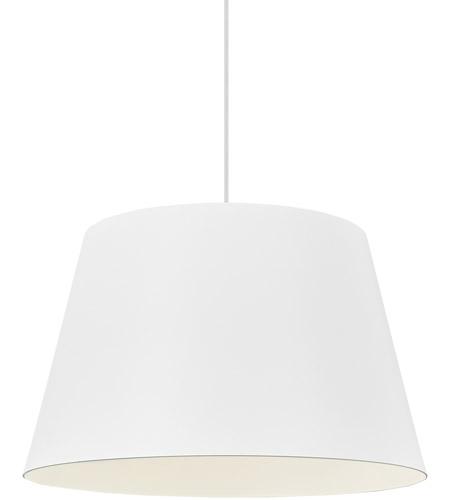Perfect Tech Lighting 700TDHNLPWW Henley 1 Light 18 Inch White Line Voltage Pendant  Ceiling Light Photo