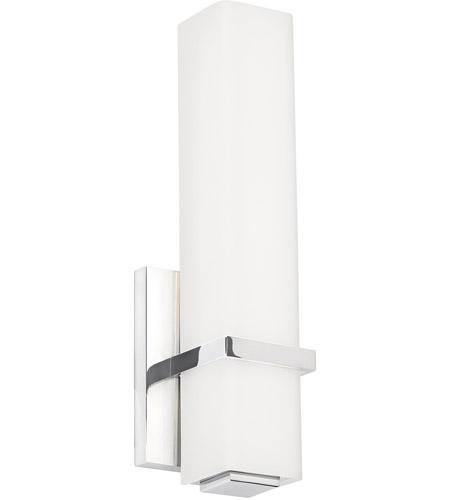 Tech Lighting BCMLNWCLED Milan LED Inch Chrome Bathroom - Led chrome bathroom vanity lights