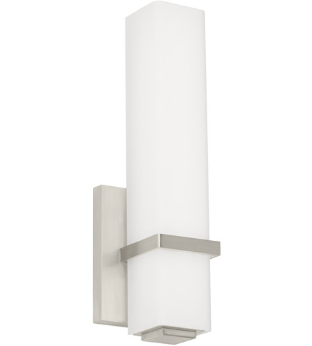 Tech Lighting BCMLNWSLED Milan LED Inch Satin Nickel - Satin nickel bathroom vanity light