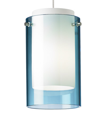 Bronze Low Voltage Pendant Ceiling Light In Aquamarine Monopoint