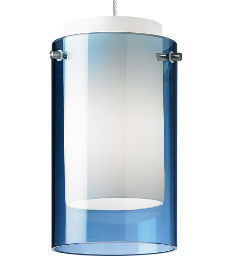 Low Voltage Pendant Ceiling Light In Steel Blue 2 Circuit MonoRail