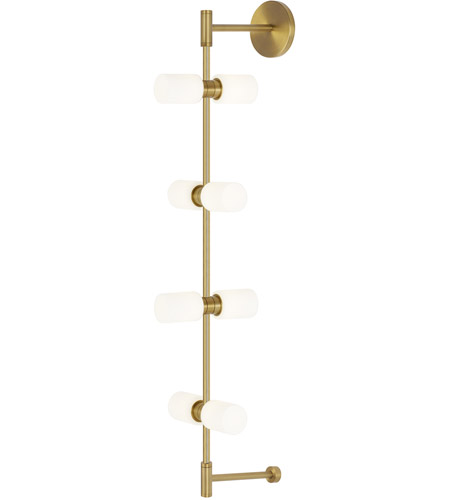 Aged Brass Metal Modernrail Wall Sconces