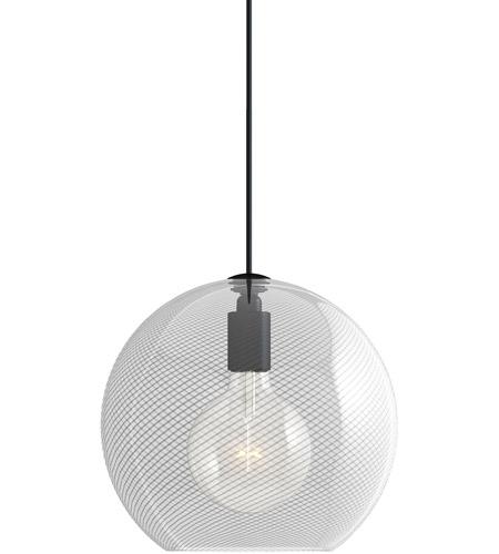 Tech Lighting 700tdpalpmocb Led930 Palestra Led 12 Inch Nightshade Black Pendant Ceiling Light