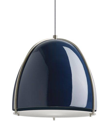 9d5309fc2bdf Tech Lighting 700TDPRVPUS Paravo 1 Light 15 inch Blue and Satin Nickel  Pendant Ceiling Light photo