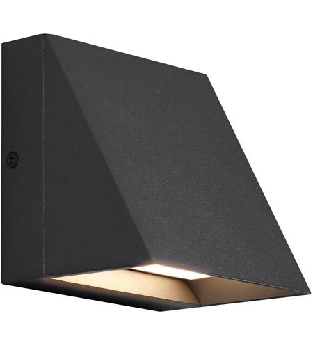Tech Lighting 700WSPITSB LED830 Pitch LED 5 Inch Black Outdoor Wall Sconce