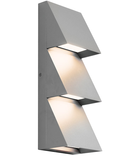 Tech Lighting 700WSPITTI-LED830 Pitch LED 15 inch Silver Outdoor Wall Sconce photo thumbnail