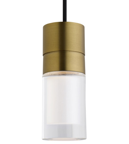 Tech Lighting 700TDSPRP3CYR-LED930 Sopra LED 2 inch Aged Brass Pendant Ceiling Light photo thumbnail