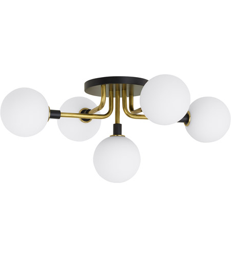 Tech lighting 700fmvgoor led930 viaggio led 22 inch black and brass semi flush ceiling light