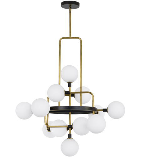 Tech lighting 700vgoor led930 viaggio led 30 inch black and brass chandelier ceiling light photo