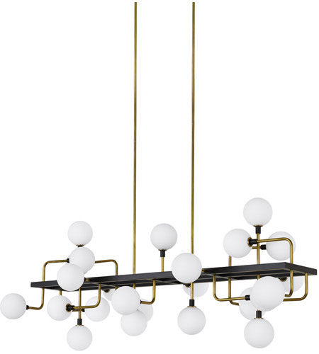 Tech lighting 700lsvgoor led930 viaggio led 56 inch black and brass linear suspension ceiling light