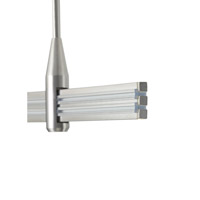 Two Circuit Monorail Satin Nickel Rail End Caps Ceiling Light
