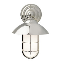Admiral 1 Light 12 inch Polished Nickel Wall Sconce Wall Light in Incandescent