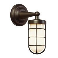 Admiral 1 Light 9 inch Antique Bronze Wall Sconce Wall Light in Fluorescent