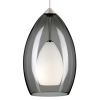 Fire 1 Light 5 inch Satin Nickel Low-Voltage Pendant Ceiling Light in Smoke, FreeJack, Halogen