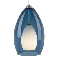 Fire 1 Light 5 inch Satin Nickel Low-Voltage Pendant Ceiling Light in Steel Blue, FreeJack, Halogen