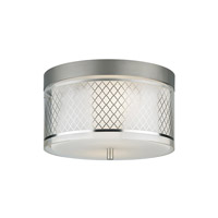 Tech Lighting Renata 1 Light Flushmount in Satin Nickel 700FMRENSMS-LED