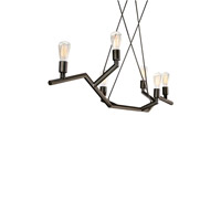 Akimbo 6 Light 48 inch Antique Bronze Linear Suspension Ceiling Light