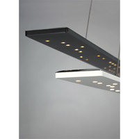Parallax LED 54 inch Black Linear Suspension Ceiling Light