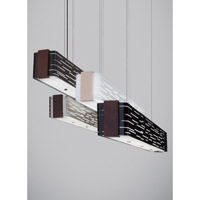 Revel 2 Light 51 inch Walnut Linear Suspension Ceiling Light