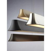 Tech Lighting 700LSZHN38B-LED Zhane LED 39 inch Black Linear Suspension Ceiling Light