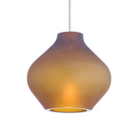 Scavo 1 Light 4 inch Chrome Low-Voltage Pendant Ceiling Light in Amber, 2-Circuit MonoRail, Halogen
