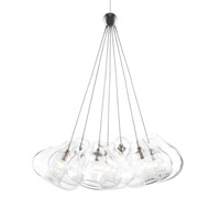 Cheers 7 Light 15 inch Satin Nickel Low-Voltage Pendant Ceiling Light in MonoRail