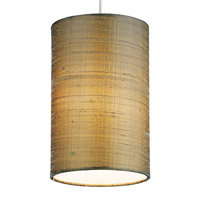 Fab 1 Light 5 inch Satin Nickel Low-Voltage Pendant Ceiling Light in Almond, MonoRail, Halogen