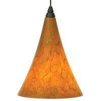 Melrose 1 Light 5 inch Antique Bronze Low-Voltage Mini Pendant Ceiling Light in Tahoe Pine Amber, MonoRail