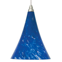 Melrose 1 Light 5 inch Chrome Low-Voltage Mini Pendant Ceiling Light in Blue-Violet, MonoRail