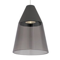 Tech Lighting 700MOMSQKYS-LED Masque LED 6 inch Satin Nickel Low-Voltage Pendant Ceiling Light in Smoke/Gray MonoRail