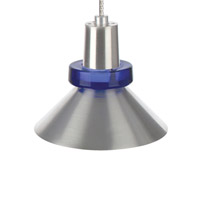 Hanging Wock 1 Light 3 inch Satin Nickel Low-Voltage Pendant Ceiling Light in Cobalt, MonoRail