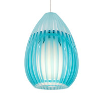 Ava 1 Light 5 inch Satin Nickel Pendant Ceiling Light in Aqua, Monopoint