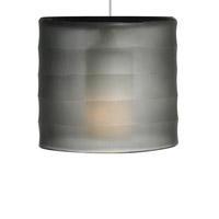 Bali 1 Light 6 inch Chrome Pendant Ceiling Light in Smoke, Halogen