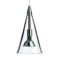Cone 1 Light 4 inch Chrome Pendant Ceiling Light in Clear, Monopoint, Halogen