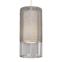 Manchon 1 Light 3 inch Satin Nickel Pendant Ceiling Light in Monopoint