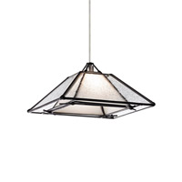 Oak Park 1 Light 7 inch Satin Nickel Pendant Ceiling Light in Clear, Monopoint