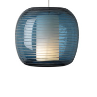 Otto 1 Light 4 inch Satin Nickel Pendant Ceiling Light in Steel Blue, Monopoint