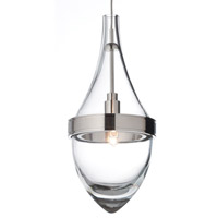 Parfum 1 Light 4 inch Satin Nickel Pendant Ceiling Light in Clear, Monopoint, Halogen