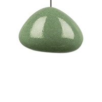 River Rock 1 Light 6 inch Antique Bronze Pendant Ceiling Light in Green Slate