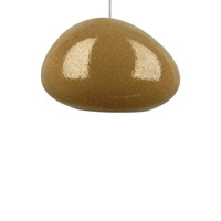 River Rock 1 Light 6 inch Chrome Pendant Ceiling Light in Pebble Brown