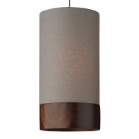 Topo 1 Light 5 inch Antique Bronze Pendant Ceiling Light in Heather Gray with Maple Trim, Monopoint, Halogen
