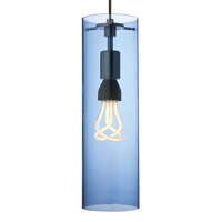 Beacon 1 Light 5 inch Antique Bronze Pendant Ceiling Light in Steel Blue, Monopoint, Fluorescent