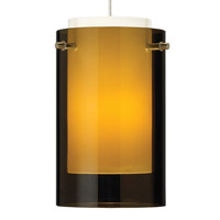 Echo 1 Light 4 inch Black Mini Pendant Ceiling Light in Havana Brown, Monopoint, Incandescent
