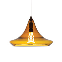 Mali 1 Light 19 inch Antique Bronze Pendant Ceiling Light in Amber, Fluorescent