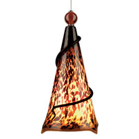 Ovation 1 Light 7 inch Satin Nickel Pendant Ceiling Light in Tortoise Shell, Amber Ball, Monopoint, Incandescent