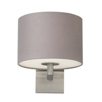 Chelsea 1 Light 10 inch Polished Nickel Wall Sconce Wall Light in Heather Gray, Fluorescent