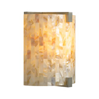 Essex 1 Light 4 inch Antique Bronze ADA Wall Sconce Wall Light in Natural Shell, Fluorescent
