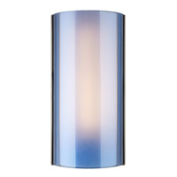 Jaxon 1 Light 3 inch Antique Bronze Wall Sconce Wall Light in Steel Blue, Incandescent