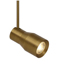 Ace 120V Aged Brass MonoRail Head Ceiling Light in 8in., FreeJack, 2700K